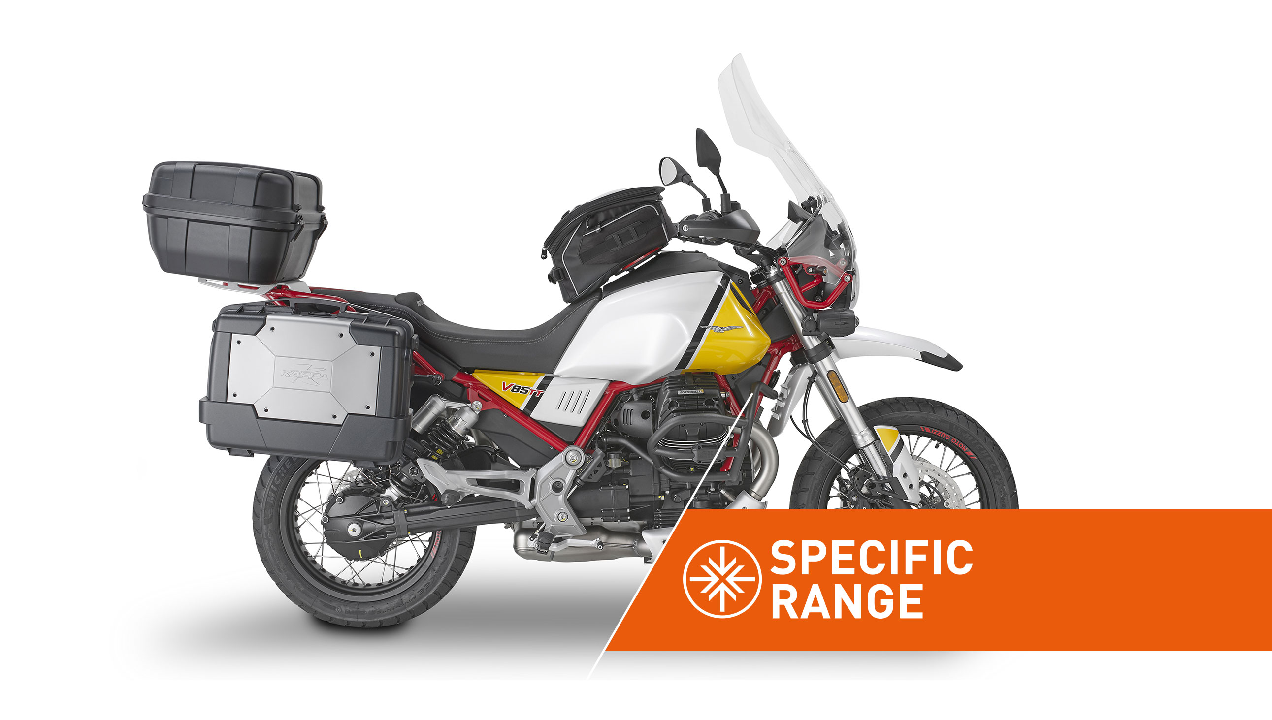 Specific range accessories for MOTO GUZZI V85 TT by KAPPA MOTO